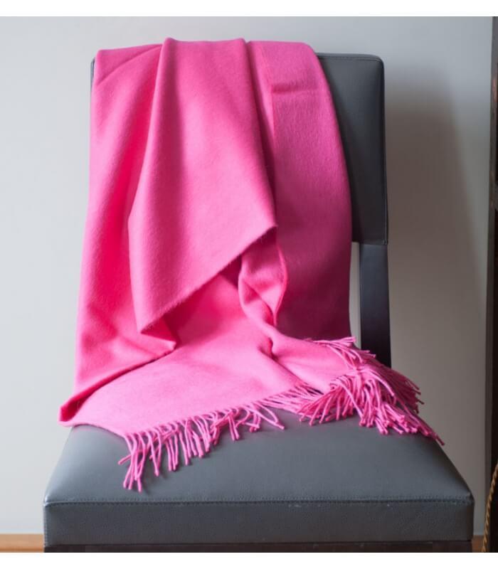 plaid laine alpaga luxe rose fushia plaid addict vente. Black Bedroom Furniture Sets. Home Design Ideas