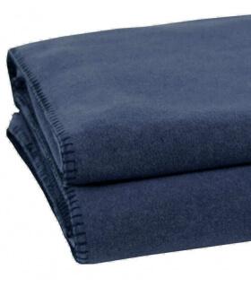 Plaid Soft Fleece Bleu foncé