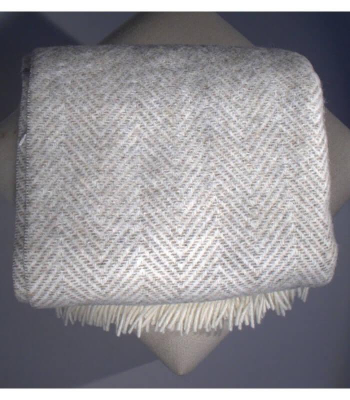 plaid naturel chevron beige plaid addict vente en ligne de hors stock. Black Bedroom Furniture Sets. Home Design Ideas