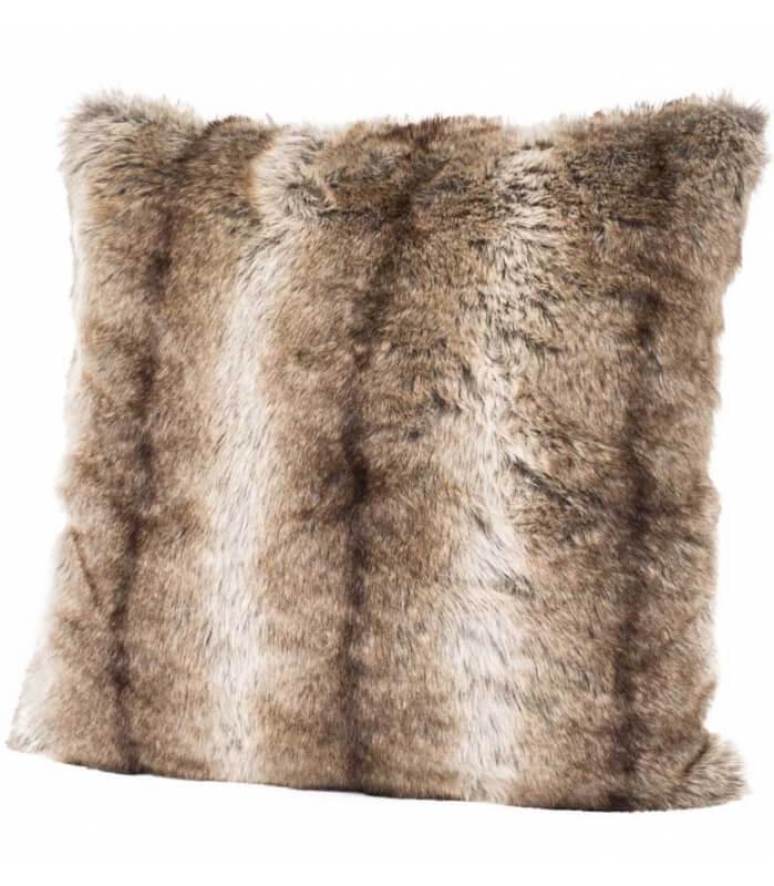 coussins fourrure coussin fausse fourrure gris 45 x 45 cm. Black Bedroom Furniture Sets. Home Design Ideas