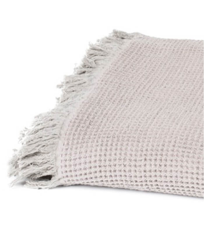 Plaid coton et lin beige 130 x170 cm for Plaid contemporain