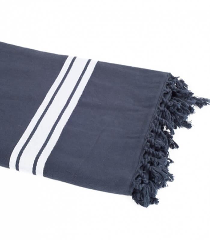 serviette de plage bleu marine 90 x 180 cm plaid addict. Black Bedroom Furniture Sets. Home Design Ideas