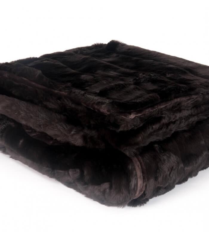 plaid fausse fourrure luxe grizzly marron 150 x 200 cm plaid addict vente en ligne de plaids