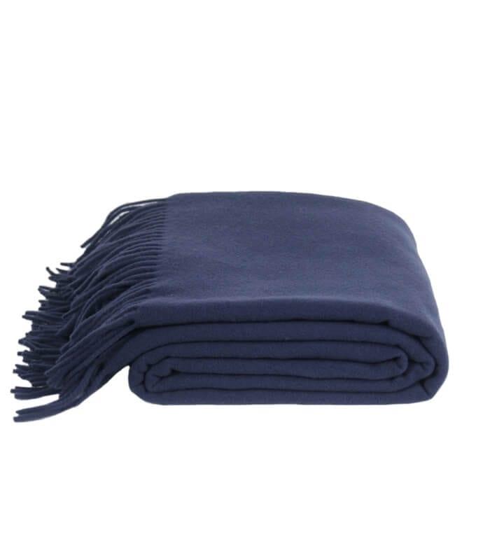 plaid laine bleu marine must have plaid addict vente en ligne de plaids zoeppritz. Black Bedroom Furniture Sets. Home Design Ideas