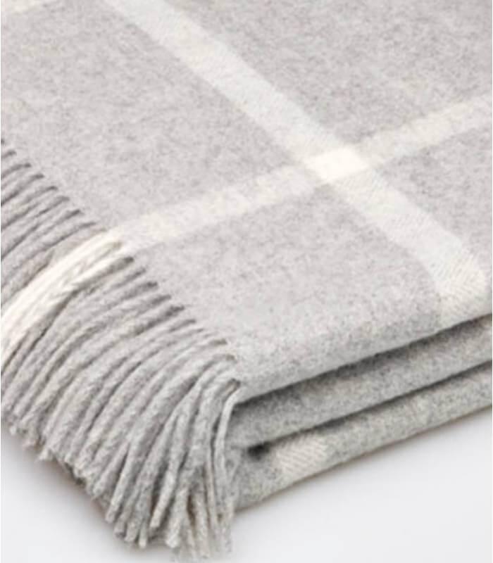 plaid laine m rinos carreaux gris plaid addict vente en. Black Bedroom Furniture Sets. Home Design Ideas