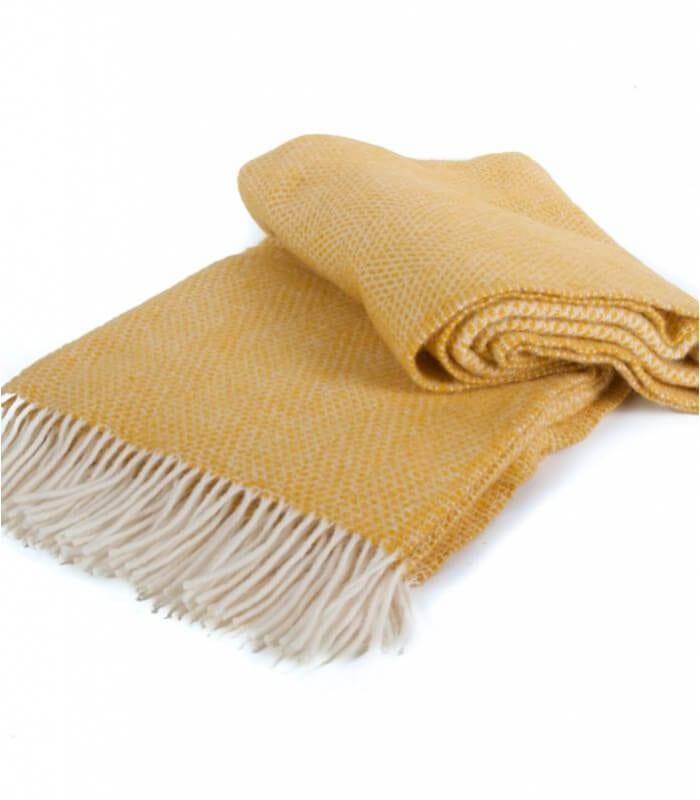 plaid laine beehive jaune plaid addict vente en ligne de plaids tweed mill. Black Bedroom Furniture Sets. Home Design Ideas