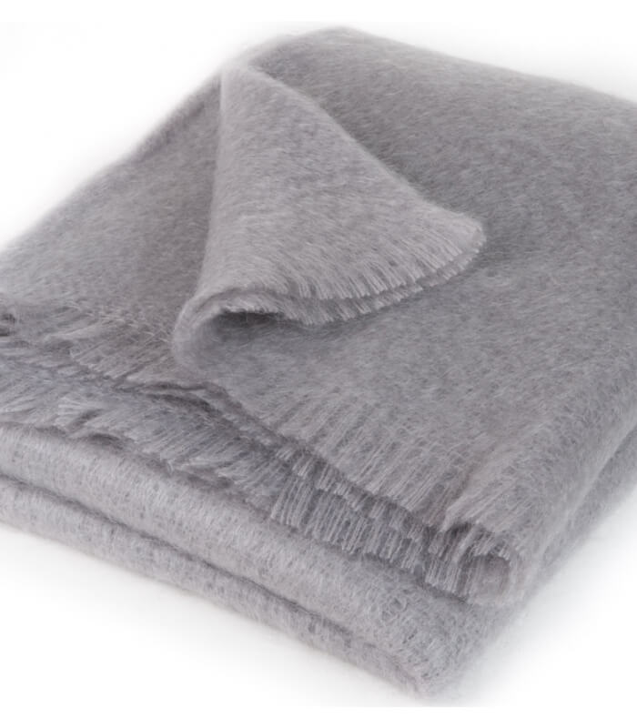 plaid mohair gris luxe 140 x 180 cm plaid addict vente en ligne de plaids mohair. Black Bedroom Furniture Sets. Home Design Ideas