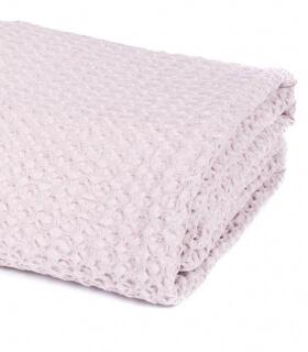Jeté de canapé/ couvre-lit Rose Poudre 100% coton