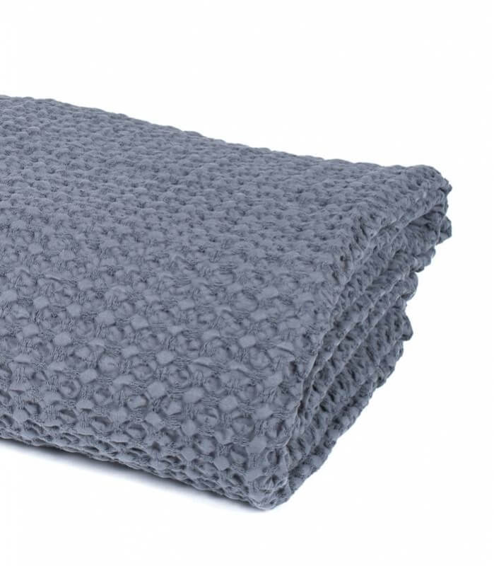 jet de canap couvre lit gris 100 coton plaid addict vente en ligne de plaids coton. Black Bedroom Furniture Sets. Home Design Ideas