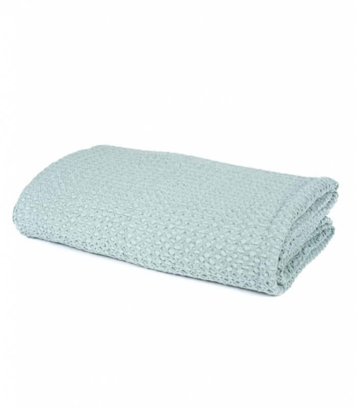 jet de canap couvre lit vert c ladon 100 coton plaid addict vente en ligne de 100 200. Black Bedroom Furniture Sets. Home Design Ideas