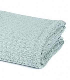 Jeté de canapé/ couvre-lit Vert céladon 100% coton