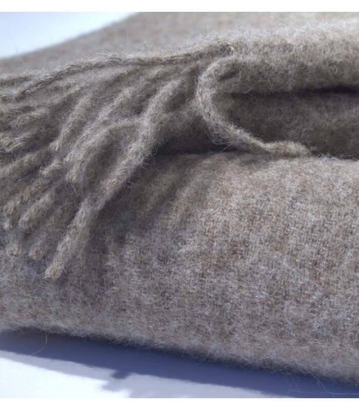 plaid pure laine marron 140 x 185 cm plaid addict vente en ligne de campagne. Black Bedroom Furniture Sets. Home Design Ideas