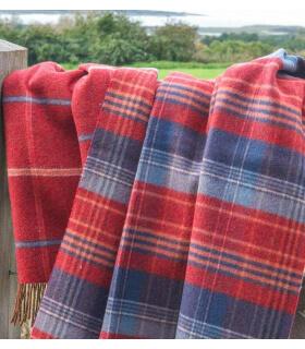 Plaid Scottish Heritage Rouge et Bleu