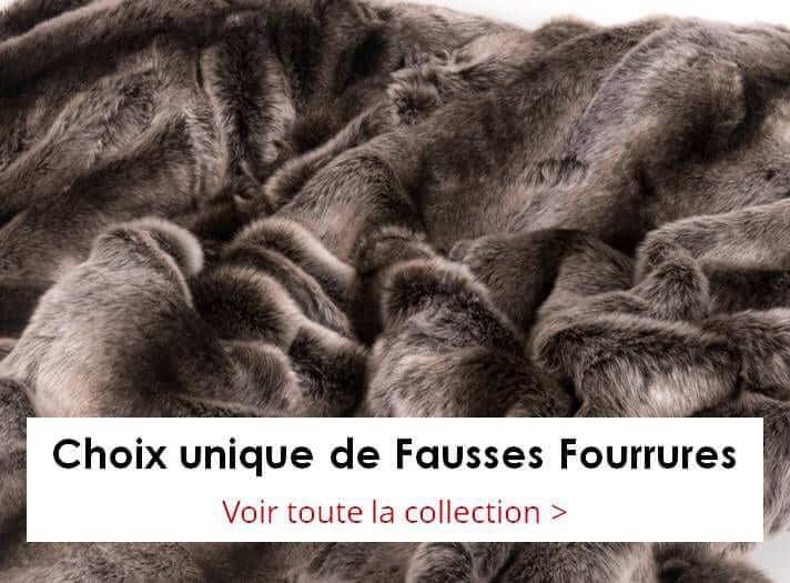 Plaids et couvertures en Fausse Fourrure