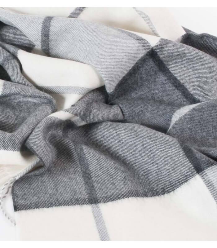 plaid hacienda gris plaid addict vente en ligne de plaids casa paola. Black Bedroom Furniture Sets. Home Design Ideas
