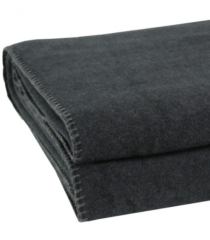 plaid polaire luxe anthracite 160 x 200 cm plaid addict vente en ligne de plaids polaire luxe. Black Bedroom Furniture Sets. Home Design Ideas