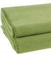 Plaid Polaire Luxe Vert Amande 110 X 150 cm