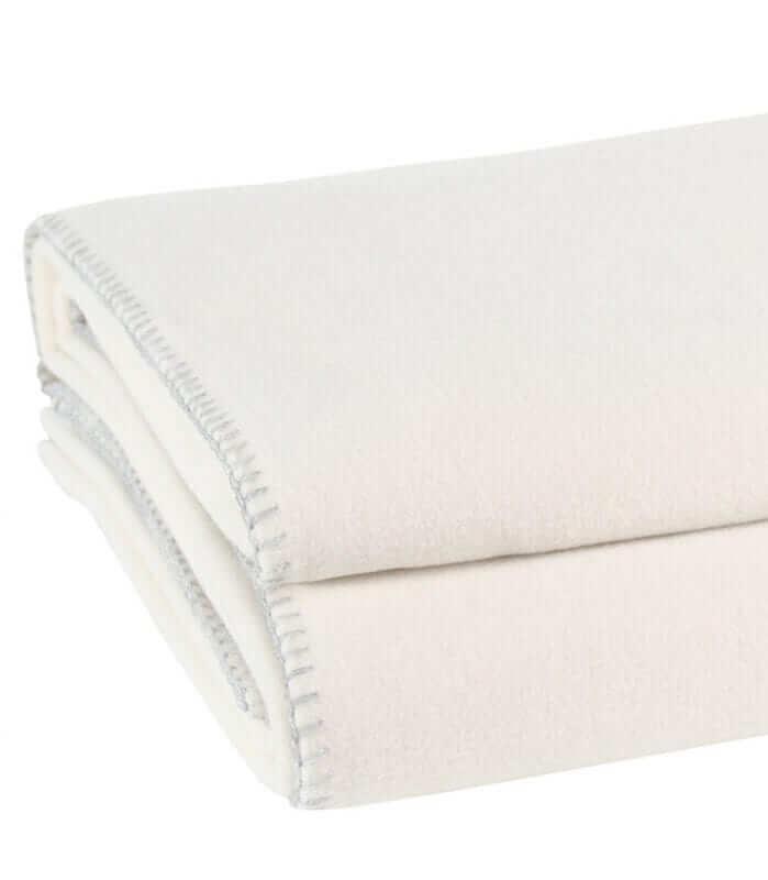 Plaid Soft Fleece Blanc cassé
