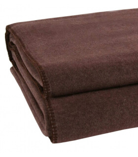 Plaid Polaire Luxe Marron 160 X 200 cm