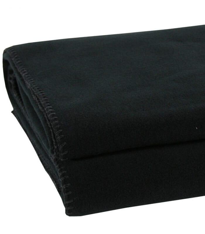 plaid polaire luxe noir 160 x 200 cm plaid addict vente en ligne de 50 100. Black Bedroom Furniture Sets. Home Design Ideas