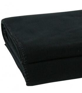 Plaid Polaire Luxe Noir 110 X 150 cm