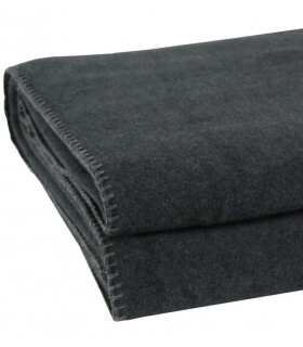 Plaid Polaire Luxe Anthracite 110 X 150 cm