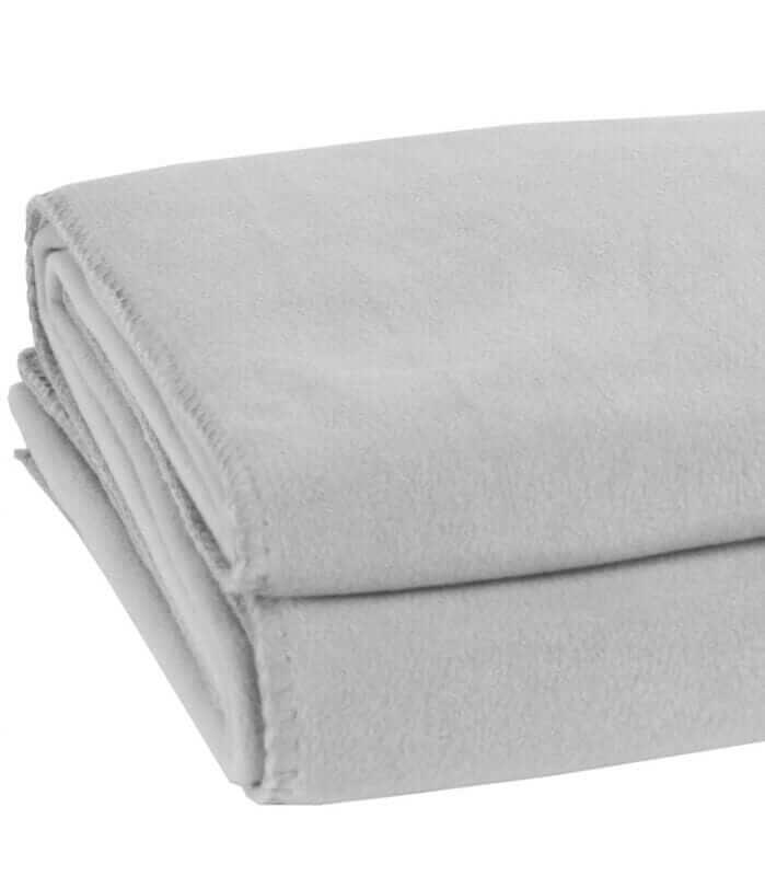 Plaid Soft Fleece Gris Perle