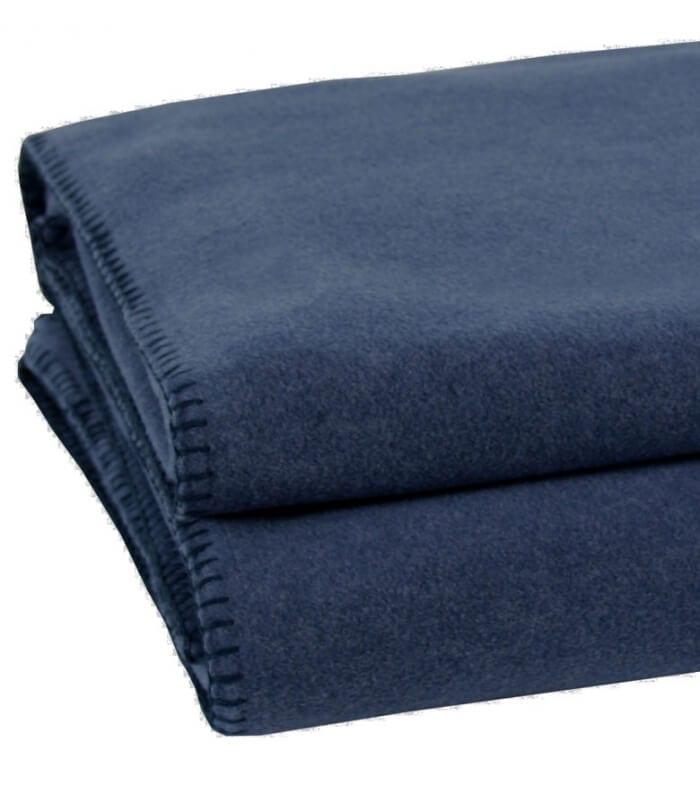 couverture polaire luxe bleu fonc 220 x 240 cm plaid addict vente en ligne de 50 100. Black Bedroom Furniture Sets. Home Design Ideas
