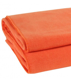 Plaid Soft Fleece Orange