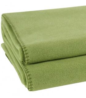 Plaid Polaire Luxe Vert Amande 220 X 240 cm