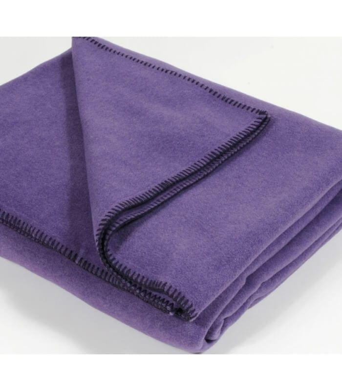 plaid polaire luxe aubergine 160 x 200 cm plaid addict vente en ligne de plaids aubergines. Black Bedroom Furniture Sets. Home Design Ideas
