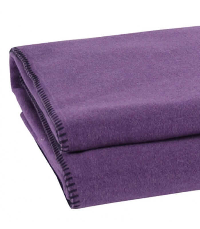 Plaid Aubergine Soft Fleece