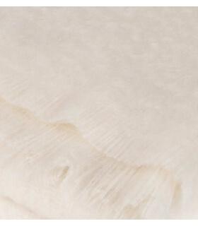 Plaid Mohair Blanc Cassé Naturel Luxe 140 X 180 cm