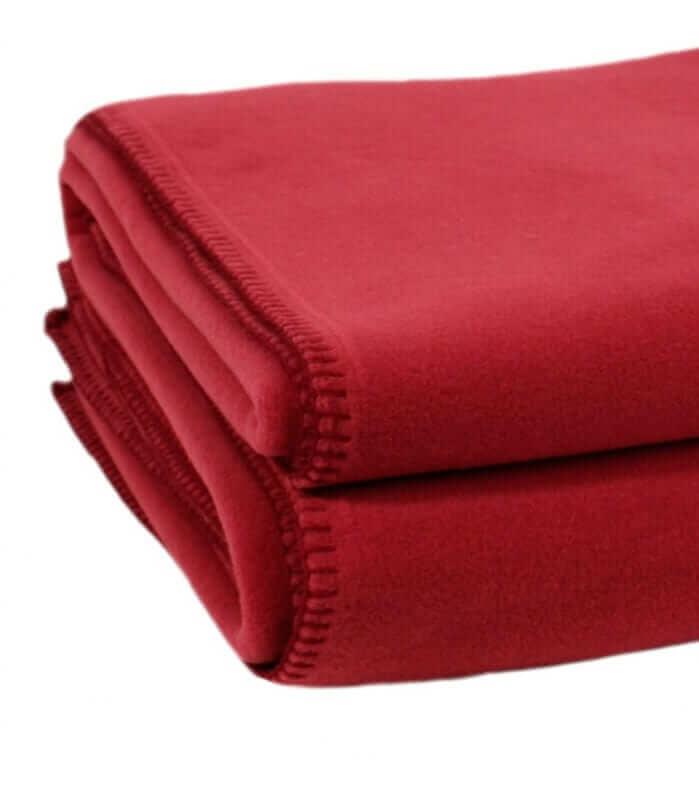 couverture polaire rouge luxe fonc 220 x 240 cm plaid addict vente en ligne de 200 300. Black Bedroom Furniture Sets. Home Design Ideas