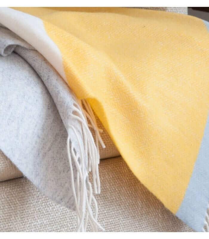 plaid laine rayures sulphur plaid addict vente en ligne de plaids pure laine. Black Bedroom Furniture Sets. Home Design Ideas