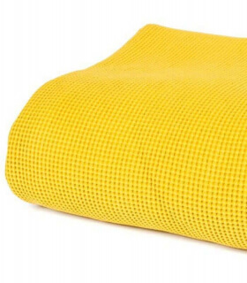 Couvre lit jaune parure couvre lit lulu jaune linge de lit de qualit jet de canap couvre lit - Plaid jaune moutarde ...