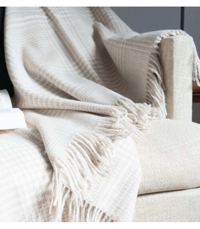 plaid laine m rinos prince de galles sable plaid addict. Black Bedroom Furniture Sets. Home Design Ideas