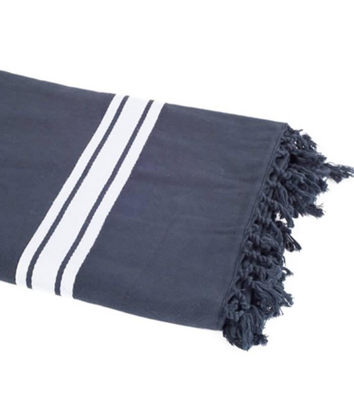 serviette de plage bleu marine 90 x 180 cm plaid addict vente en ligne de serviettes de plage. Black Bedroom Furniture Sets. Home Design Ideas