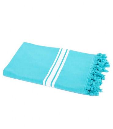 Serviette de Plage Bleu Turquoise 90 X 180 cm