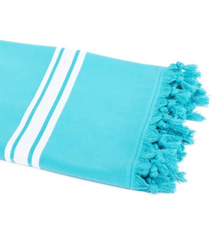 serviette de plage bleu turquoise 90 x 180 cm plaid addict vente en ligne de serviettes de plage. Black Bedroom Furniture Sets. Home Design Ideas
