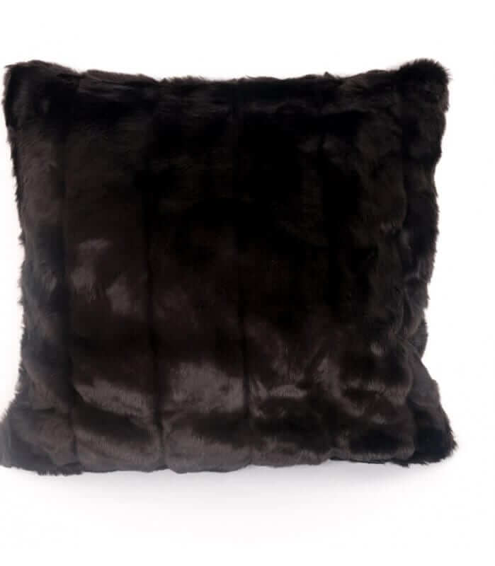 Coussin Fausse Fourrure Luxe Grizzly 45 X 45 cm