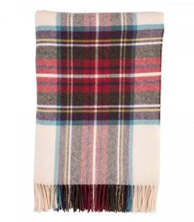 Plaid Pure Laine Écossais Calico Dress Stewart