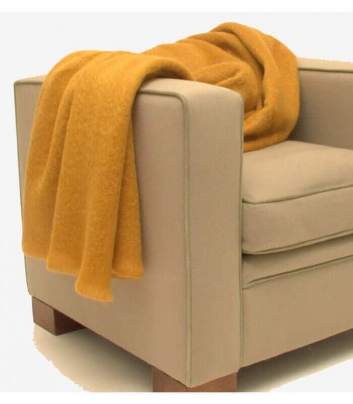 plaid mohair gold luxe 140 x 180 cm plaid addict vente. Black Bedroom Furniture Sets. Home Design Ideas
