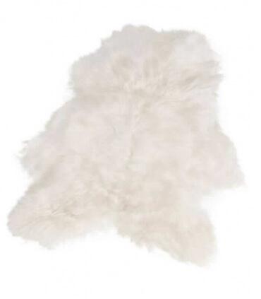 Peau de Mouton Islandais Blanche Poils Longs