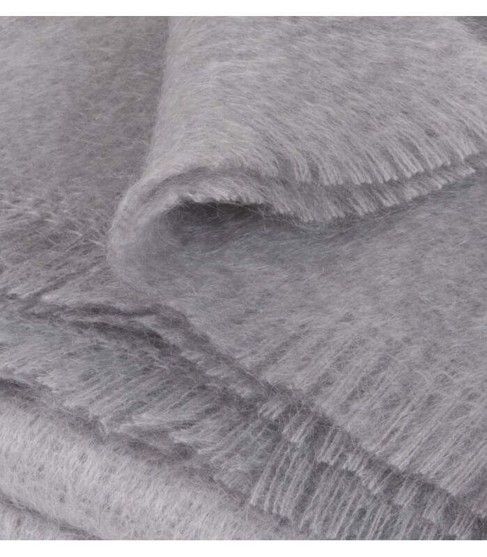 Plaid Mohair Gris Luxe 140 X 180 cm