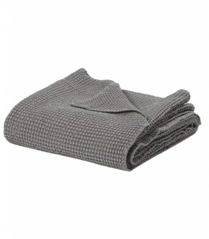 jet de canap couvre lit 100 coton lav gris 240 x 260 cm plaid addict vente en ligne de. Black Bedroom Furniture Sets. Home Design Ideas