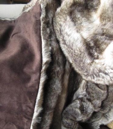 Plaid Fausse Fourrure Grizzly Brun 150 X 170 cm