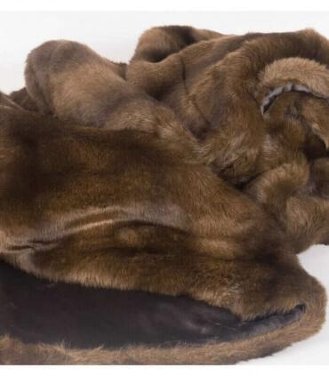 Couvre-lit Fausse Fourrure Luxe Vison 250 X 250 cm