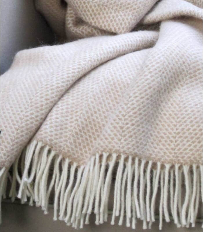 plaid laine beehive beige plaid addict vente en ligne de plaids the mill. Black Bedroom Furniture Sets. Home Design Ideas