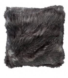 Coussins Fausse Fourrure Luxe Gris 45 X 45 cm
